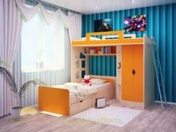 Детская двухъярусная кровать Happy Kids K-8М