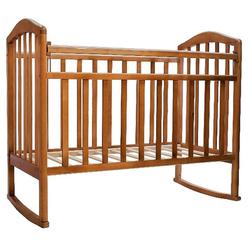 Кроватка детская Алита с колесами, качалка, орех