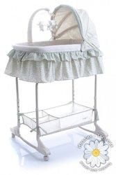 Baby Point Детская кроватка-колыбель REGINA зеленый
